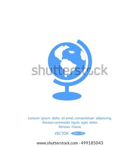 globe icon vector illustration.