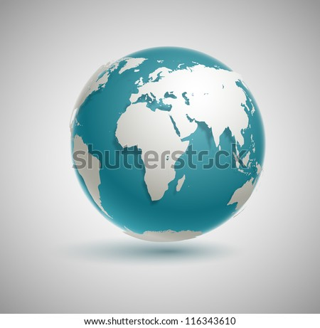 globe icon with smooth vector