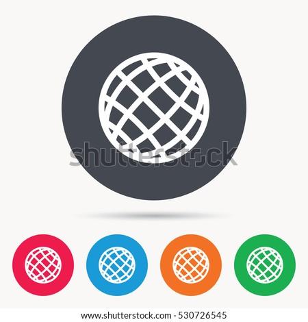 globe icon world or internet