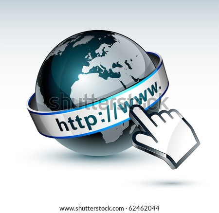 stock vector : Globe internet