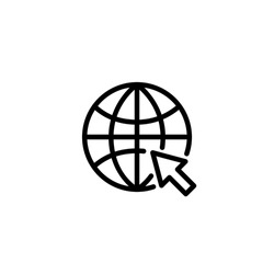 Globe internet icon vector illustration logo template for many purpose. Isolated on white background.
