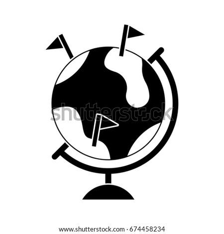 globe location icon
