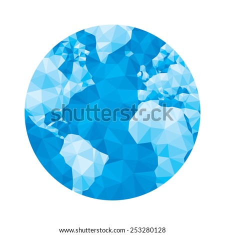 globe map   abstract geometric