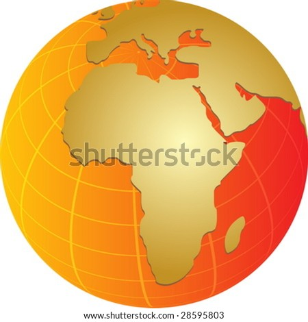 blank map of africa and middle east. hot lank map of africa and