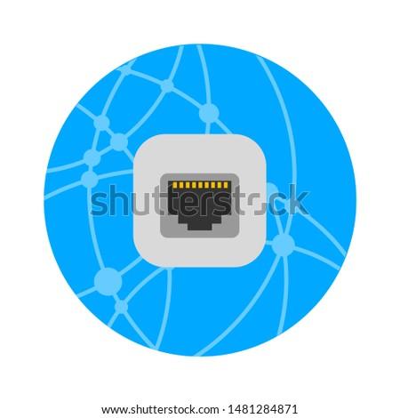 globe network icon. flat illustration of globe network vector icon. globe network sign symbol