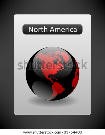 Globe. North America.