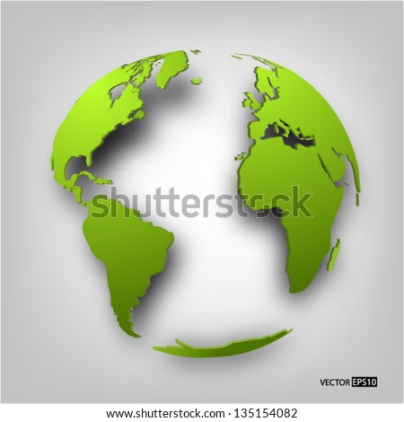 Globe of the world. EPS10 vector illustration.