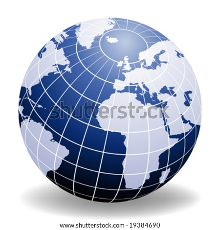 Globe of the World Europe and Africa