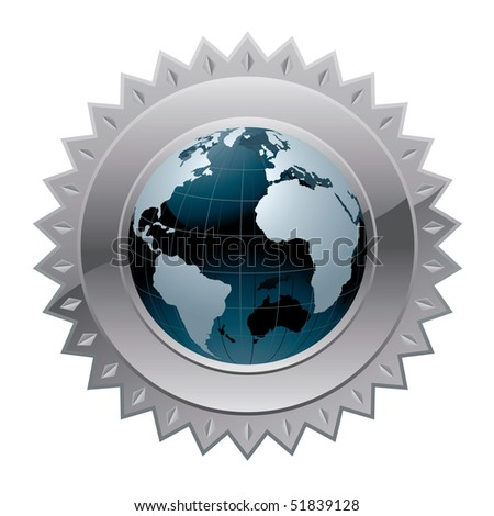 Globe of the world vector icon