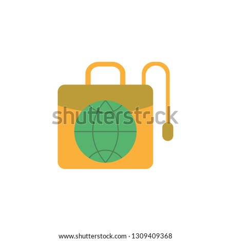 Globe on Briefcase icon. Element of Web Money and Banking icon for mobile concept and web apps. Detailed Globe on Briefcase icon can be used for web and mobile