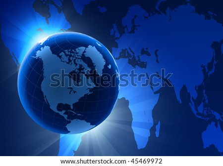 world map globe vector. stock vector : Globe on Eclipse Background with World Map Original Vector Illustration