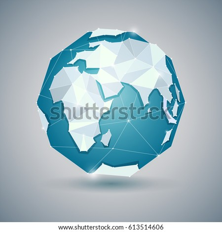 globe or earth icon on gray