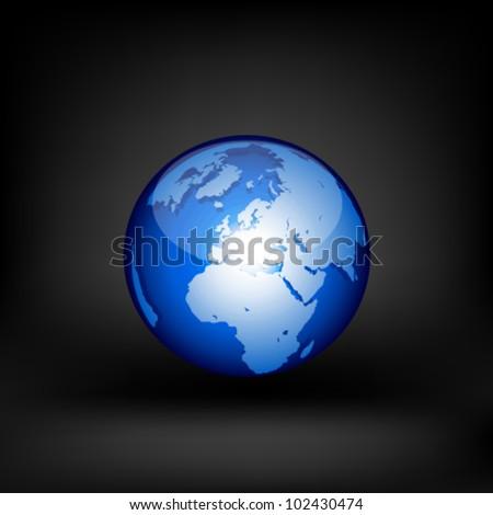 Globe. Vector