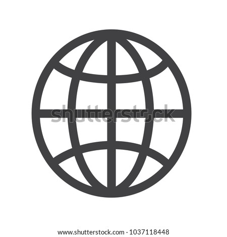 Globe vector icon, world icon, earth icon