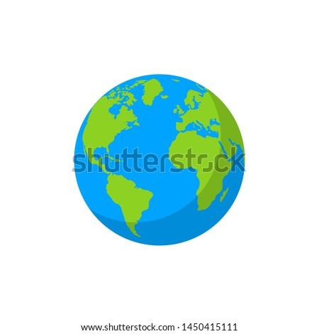 Globe. Vector illustration. Flat design.