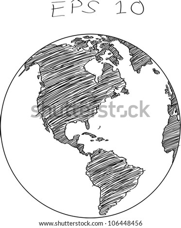 Globe Vector line Illustrator, EPS 10.