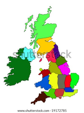 maps of united kingdom. Map of United Kingdom and