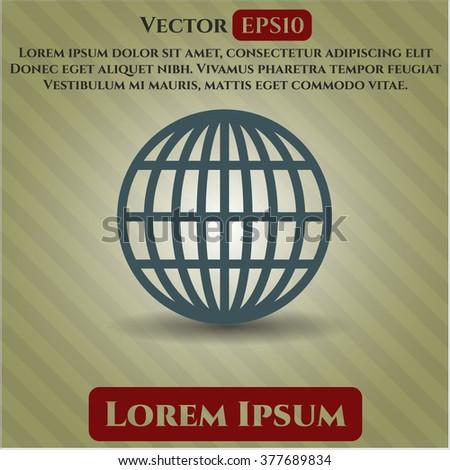 Globe (website) icon or symbol