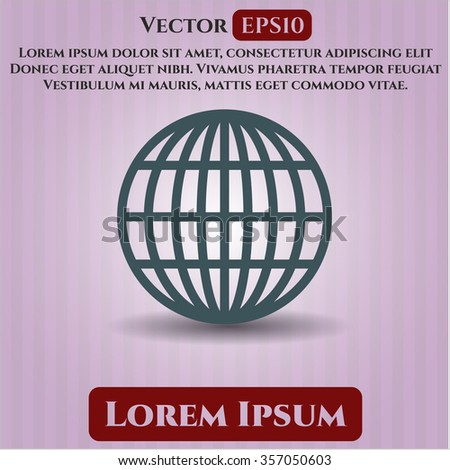 Globe (website) icon vector illustration