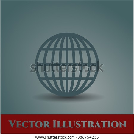 Globe (website) icon vector illustration