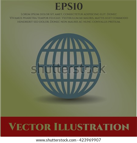 globe website icon vector symbol flat eps jpg app