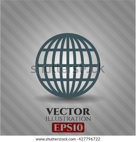 globe website icon vector symbol flat eps jpg app