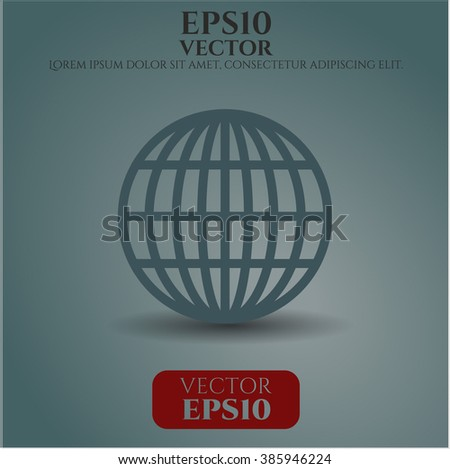 Globe (website) vector icon