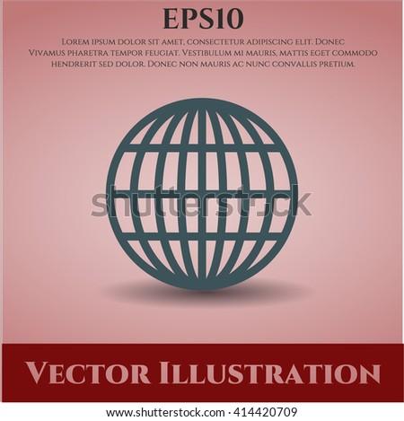 Globe (website) vector icon