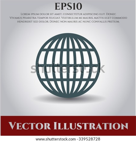 Globe (website) vector icon or symbol