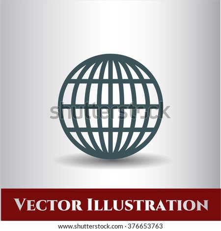 Globe (website) vector icon or symbol