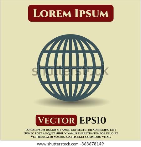 Globe (website) vector symbol