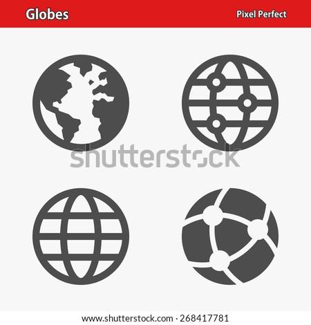 globes icons professional