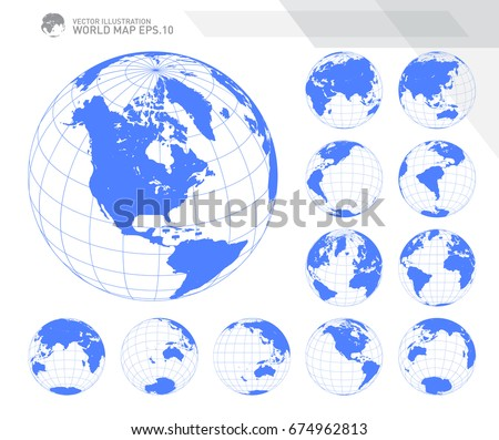 Globe vectors free vector art at vecteezy globes showing earth with all continents digital world globe vector dotted world map vector gumiabroncs Choice Image