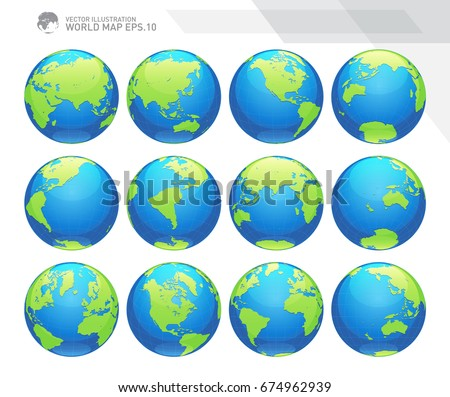 globes showing earth with all