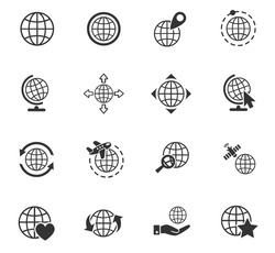 globes web icons for user interface design