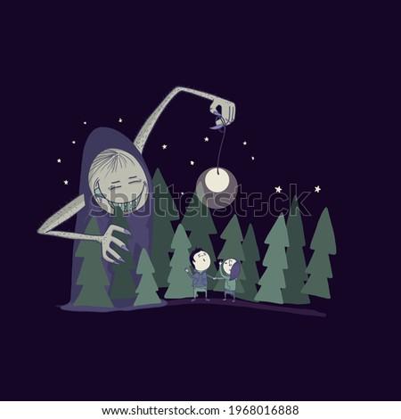 gloomy illustration of a magic