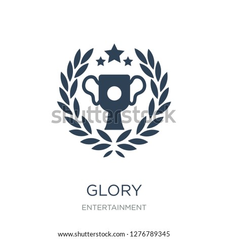 glory icon vector on white background, glory trendy filled icons from Entertainment collection, glory vector illustration