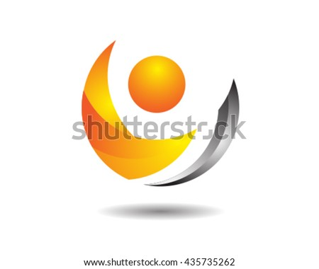 glossy abstract crescent