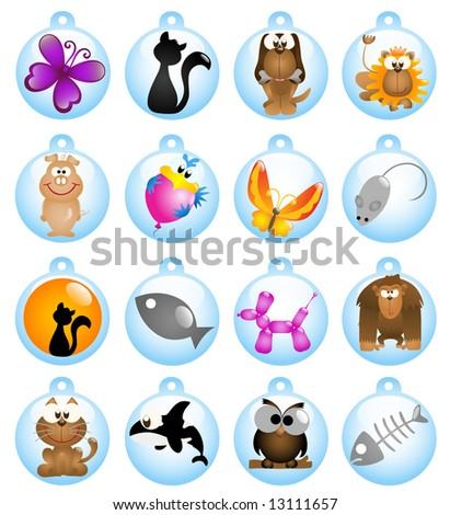 Glossy animal icons - Part 2 (vector)