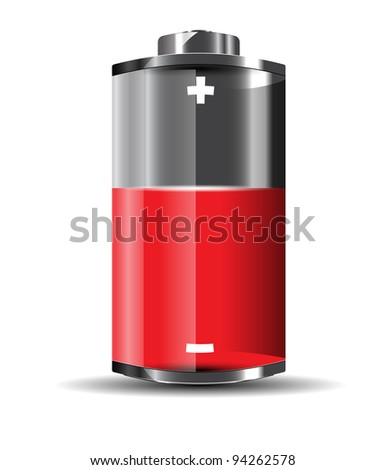 Glossy battery vector format