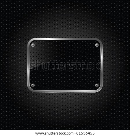glossy black plate on a