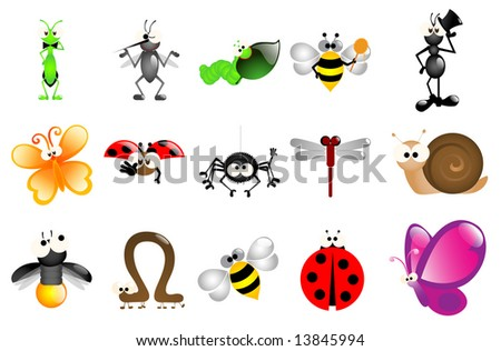 Glossy bug icons - Part 1 (vector)
