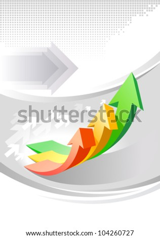 Glossy business growth  brochure design - stock vector
