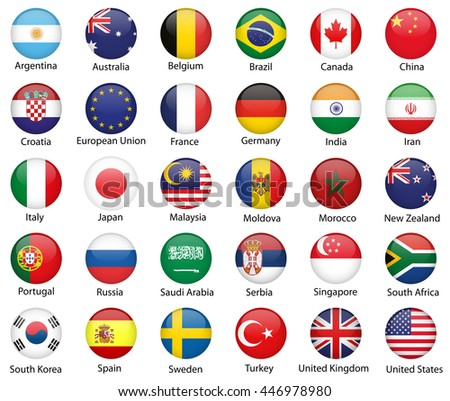 Glossy button flags #446978980