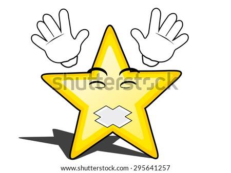 glossy cartoon star with smiley