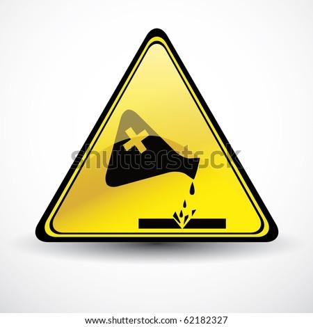 Glossy Chemical danger sign