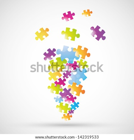 glossy colorful puzzle