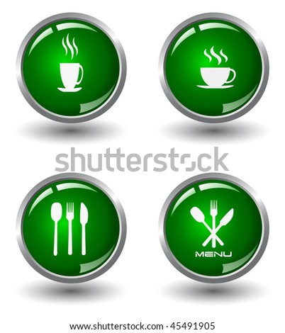 Glossy food internet button