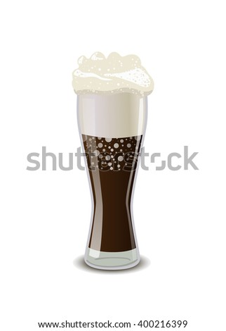glossy full glass of cola with