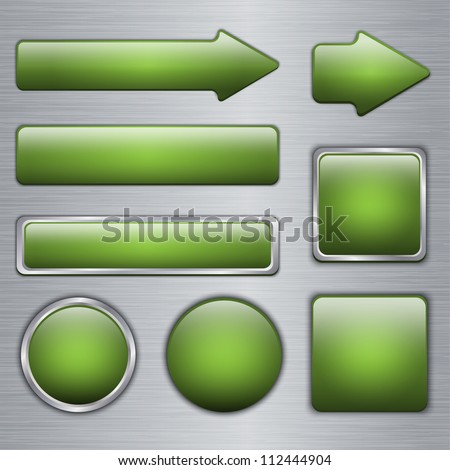 Glossy Green web buttons